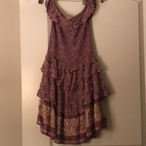 Spell dahlia ra ra mini dress
